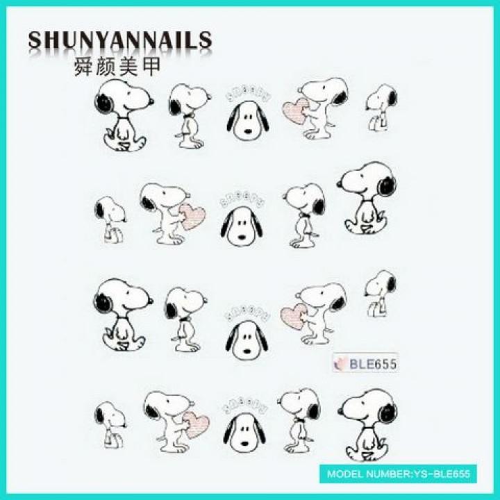 Слайдер дизайн для ногтей, Водные Наклейки Животные, собачка, пес