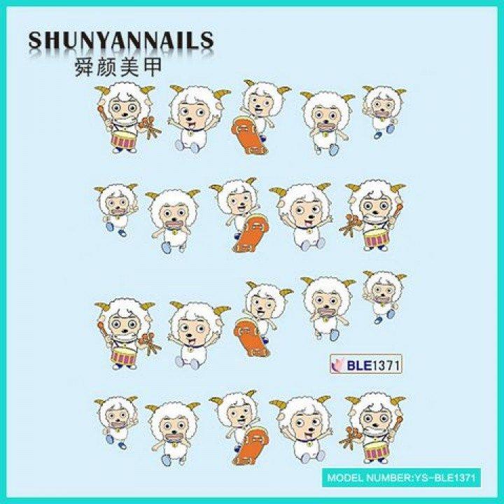 Слайдер дизайн для ногтей, Водные Наклейки Животные, веселые овечки