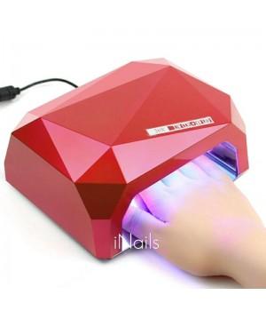 Уф лед ссфл гибридная лампа для гель лака, шеллака 36 Вт с сенсором