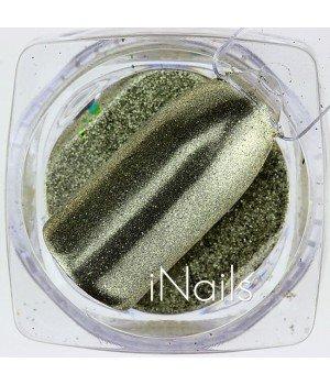 Зеркальная пудра Chrome для ногтей №01 золото