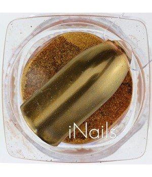 Зеркальная пудра Chrome для ногтей №11 красное золото