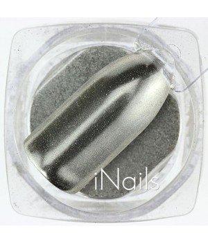 Зеркальная пудра Chrome для ногтей №13 серебро