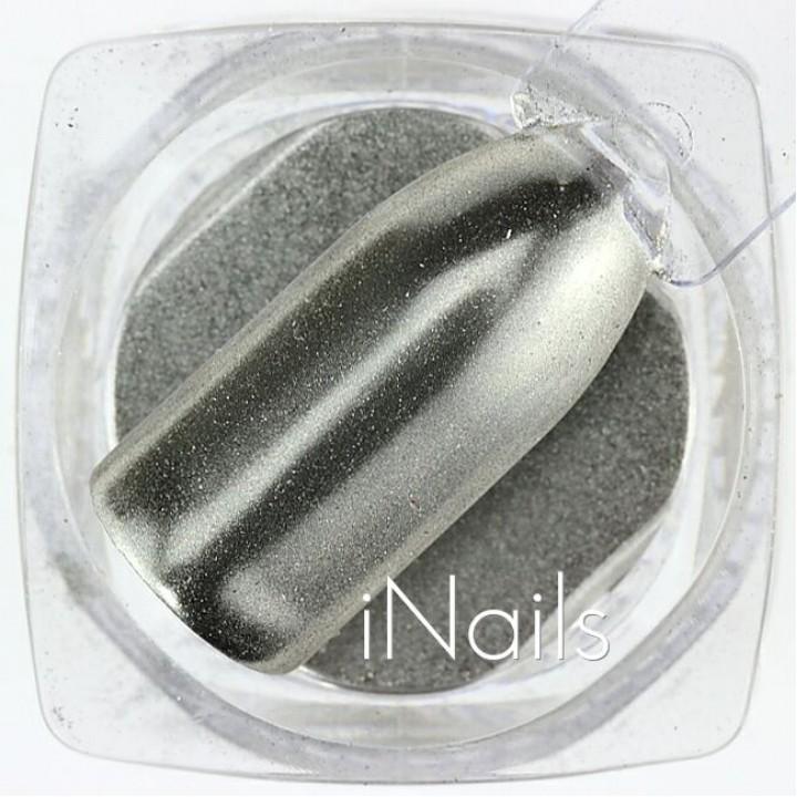 Зеркальная пудра Chrome для дизайна ногтей №13 серебро