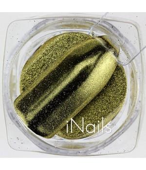 Зеркальная пудра Chrome для ногтей №03 золото