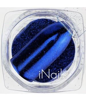 Зеркальная пудра Chrome для ногтей №04 синяя