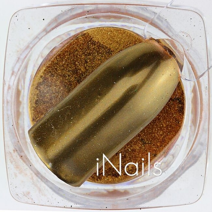 Зеркальная пудра Chrome для дизайна ногтей №11 красное золото