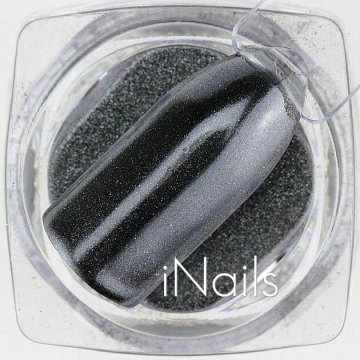 Зеркальная пудра Chrome для дизайна ногтей №15 серая